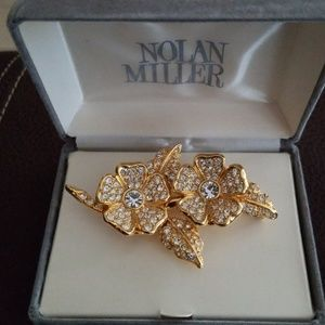 New Nolan Miller two in one brooch